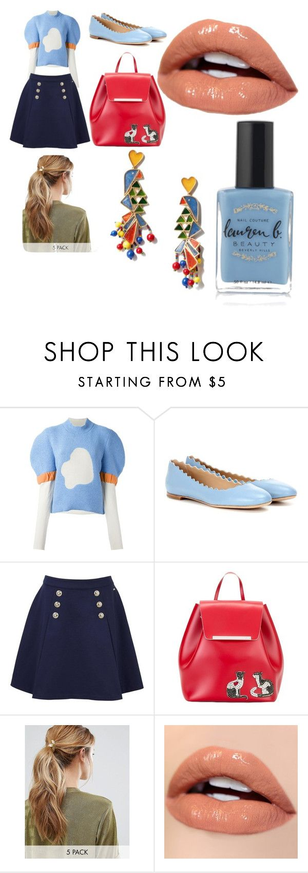 """Untitled #3"" by juliafomina ❤ liked on Polyvore featuring J.W. Anderson, Chloé, Tommy Hilfiger, N°21, Kitsch, Tory Burch and Lauren B. Beauty"