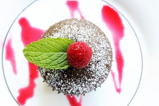 Feestelijke chocoladecakejes