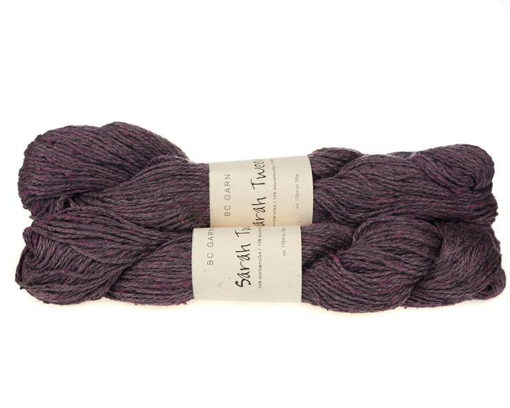 Sarah Tweed lækkert uld / silkegarn - Lilla - 59 kr. per fed á 50 gram