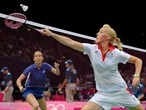 Great Britain and Russia play Badminton Mixed Doubles at Wembley Arena