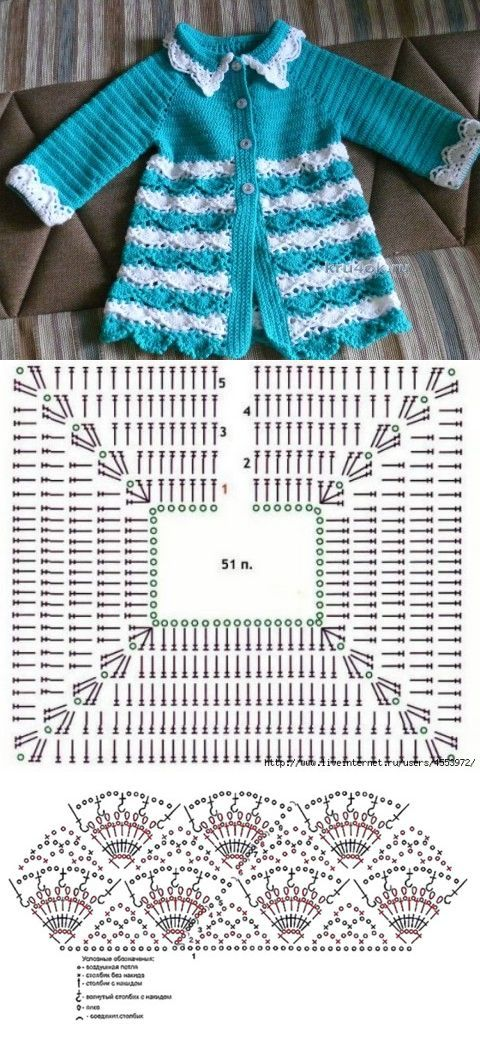 Вязаный кардиган для девочки — работа Надежды - вязание крючком на kru4ok.ru   вяжем детям   Постила
