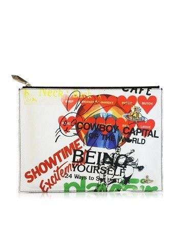 LARGE GL BEING POUCH VIVIENNE WESTWOOD
