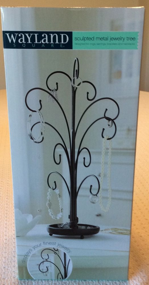 Sculpted Metal Jewelry Tree Stand By Wayland Square NIB #WaylandSquare