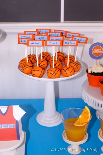 Cake Pops @ Basketball Party