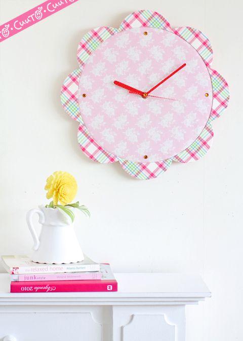「 [募集]120分で完成!のカルトナージュレッスン・4月19日は「壁かけ時計」です 」の画像 カルトナージュのアトリエCuuTO(キュート)・井上ひとみのかわいいこと日記 Ameba (アメーバ)
