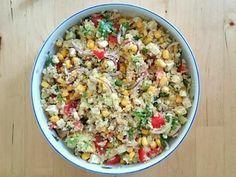 Schneller Quinoa-Salat mit Avocado, Mais, Tomate und Feta   Gemüse Rezept auf Kochrezepte.de von die_christl