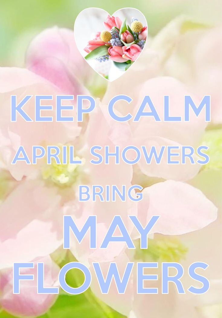 keep calm April showers bring May flowers / Created with Keep Calm and Carry On for iOS #keepcalm #AprilShowers #MayFlowers