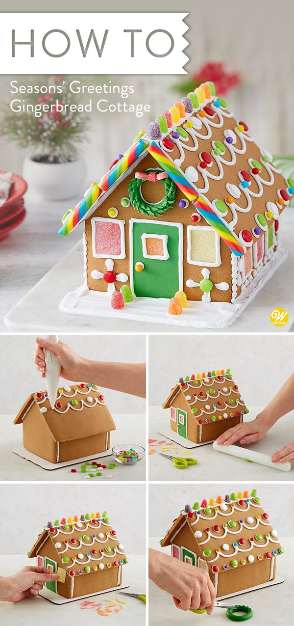 Christmas Gingerbread House Kit.This Gingerbread House Kit Welcomes You With Two Cute
