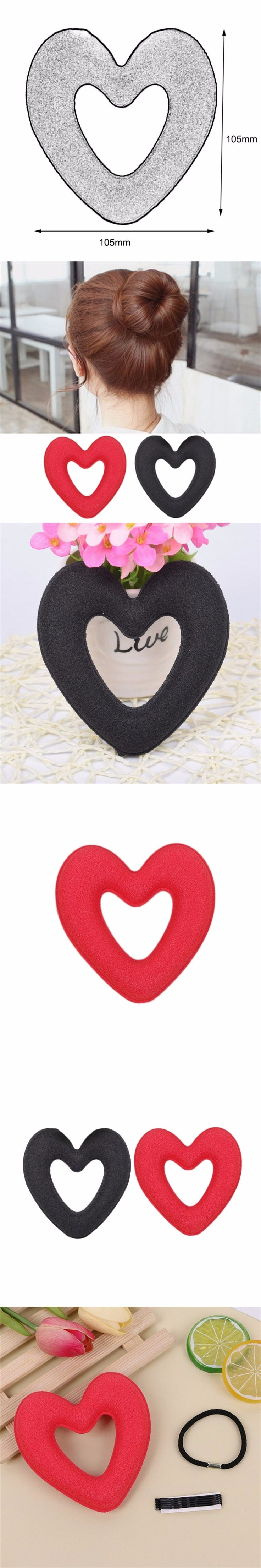 Korean Style Heart-Shaped Doughnuts Lady Lovely New Hair Bud Hair Braiding Tools Hair Braider Hair Styling Tools Hot New