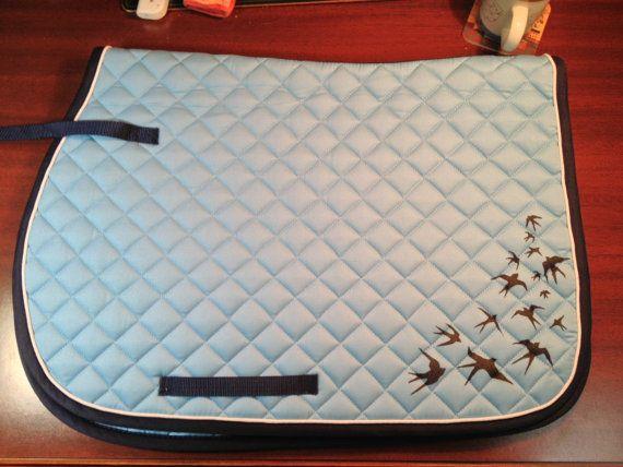Hand-painted english saddle pad on Etsy, $60.00
