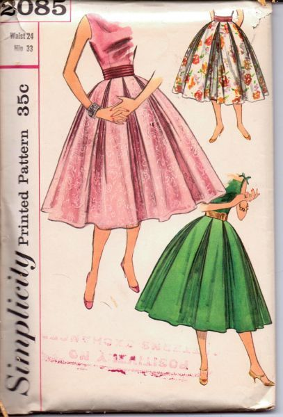 https://vintagestitching.com/collections/1950s-ladies-vintage-patterns/products/1950s-graceful-full-skirt-double-inverted-pleats-cummerbund-simplicity-2085-vintage-sewing-pattern