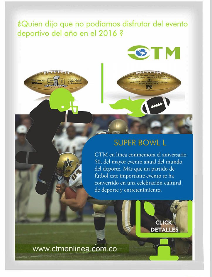 Evento super bowl 2016 con ctm en linea
