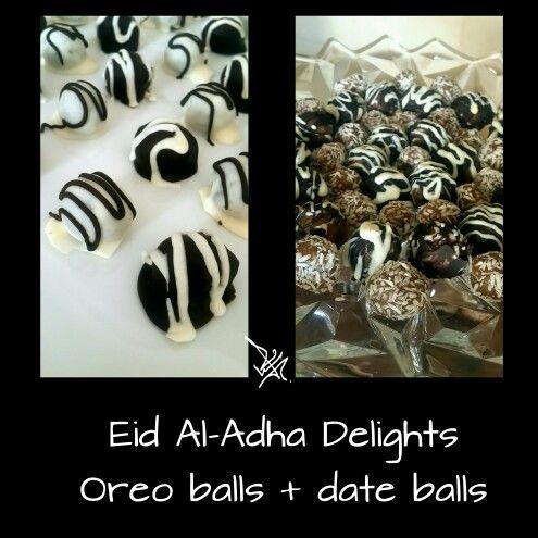 #كل_عام_وانتم_بخير #تقبل_الله_طاعتكم #أضحى_مبارك  #eid_mubarak #adha #happy_eid  #date_balls #oreo_balls #كرات_التمر #كرات_اوريو