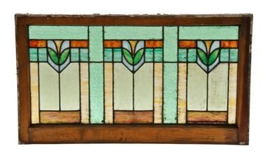 Urban Remains Chicago :: early 20th century american arts & crafts or craftsman style stained glass window