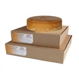 """Vanilla Genoese Sponge Cake – Round – 10"""" Inch"""