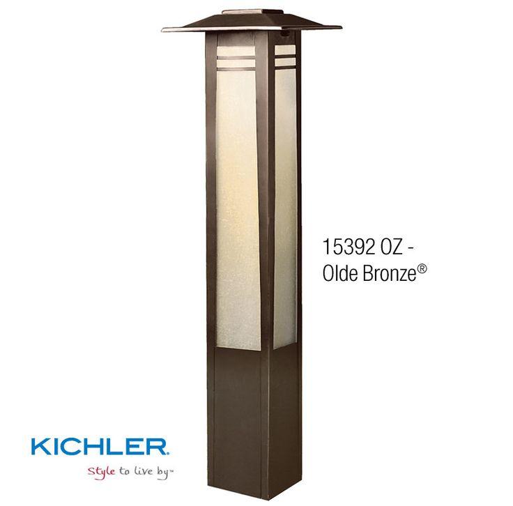 "Kichler 15392 Zen Garden 26"" Xenon Bollard Light Olde Bronze Outdoor Lighting Landscape Lighting Path Lights"
