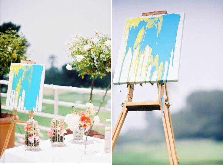 Unity Candle Alternative - create a painting during your ceremony in place of a traditional unity candle. Loving this!