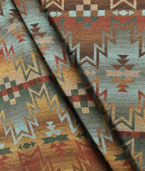 Ralph Lauren  Tribal Fair Canyon Fabric--I really like this fabric and it would incorporate the blue tile in the fireplace I have now.