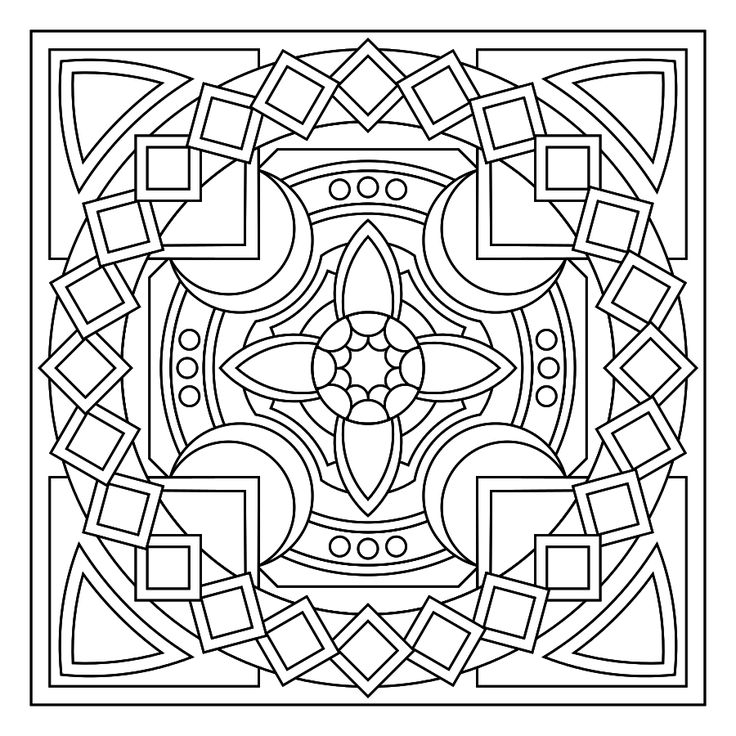 find this pin and more on colour in circular patterns - Colour In Stencils