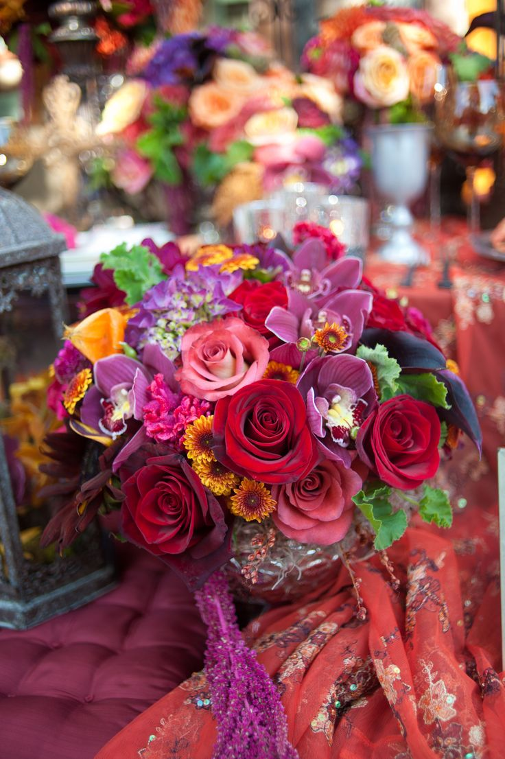 Spanish Themed Wedding Florals [Nick Corona Photography, Blue Oaks Photography]