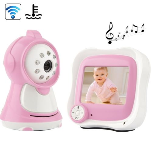 [$77.61] 3.5 inch LCD 2.4GHz Wireless Surveillance Camera Baby Monitor with 8-IR LED Night Vision (Pink)