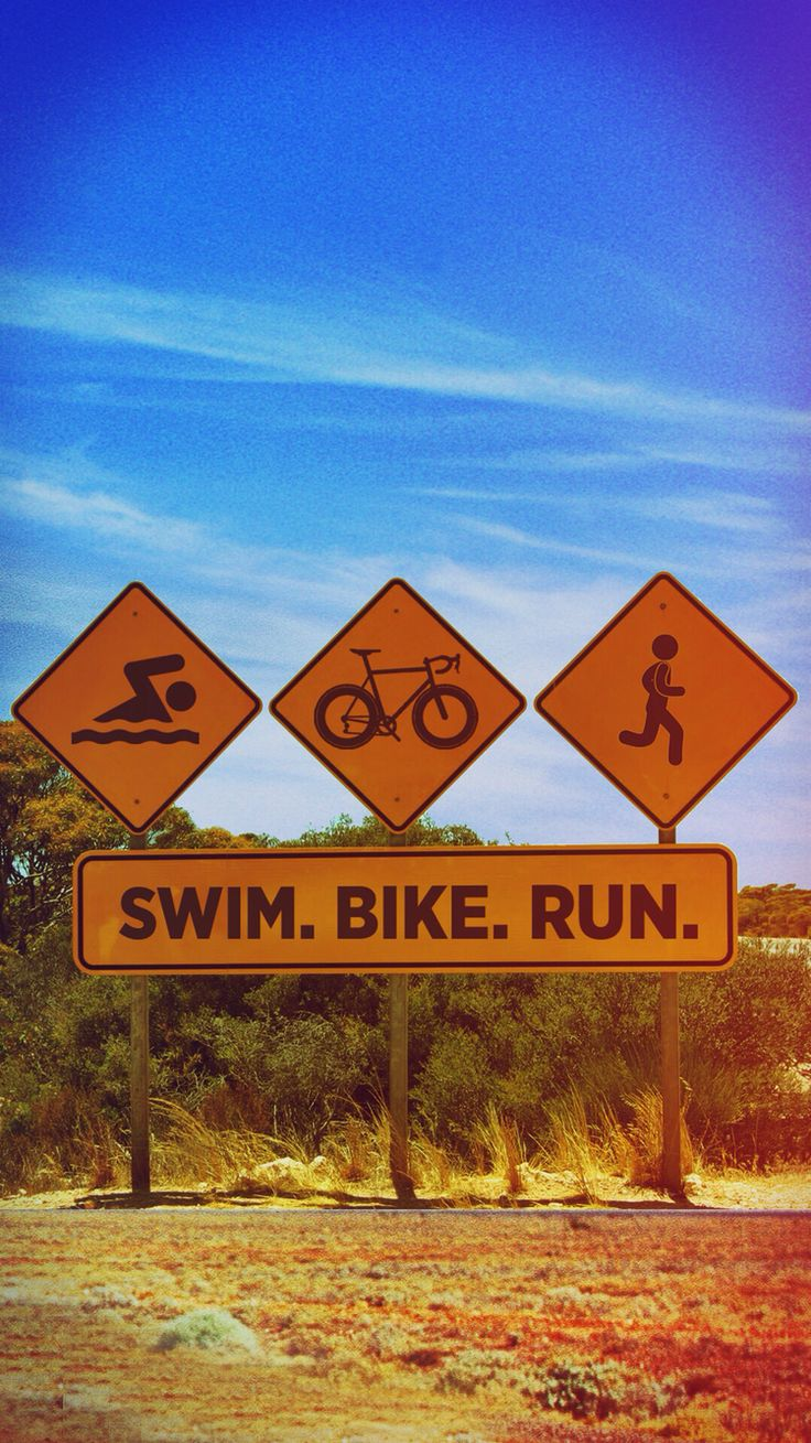 Swim. Bike. Run. iPhone wallpaper