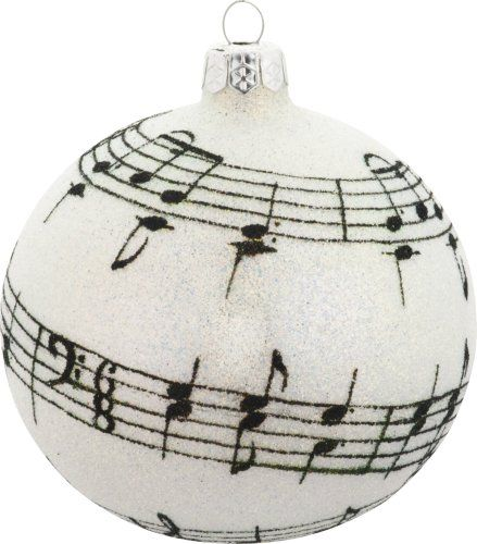 I love this simply music inspired Christmas ornament, it would also make a cool gift idea for a musician or music teacher don't you think?
