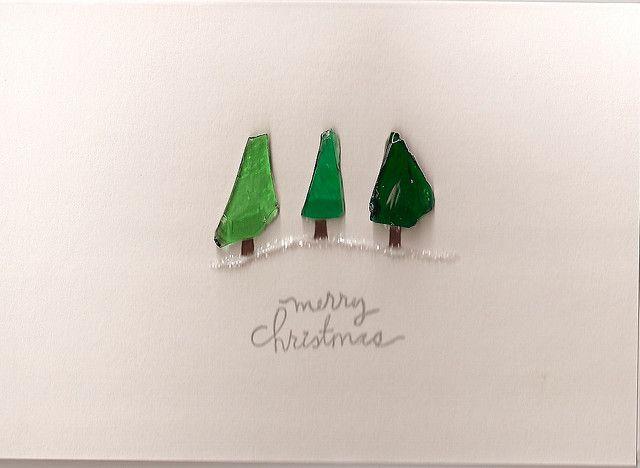 Sea Glass Christmas Tree card