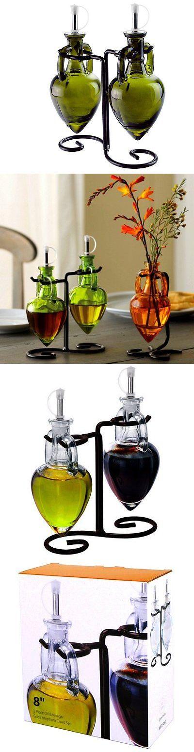 Oil and Vinegar Dispensers 54122: Oil And Vinegar Dispenser, Olive Oil Bottles Or Soap Dispenser Bottle G11fr Set -> BUY IT NOW ONLY: $35.87 on eBay!