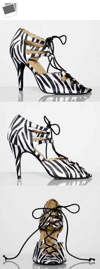 Ballroom 152340: New Women Zebra Satin Latin Ballroom Salsa Bachata Dance Shoes All Size -> BUY IT NOW ONLY: $35.99 on eBay!
