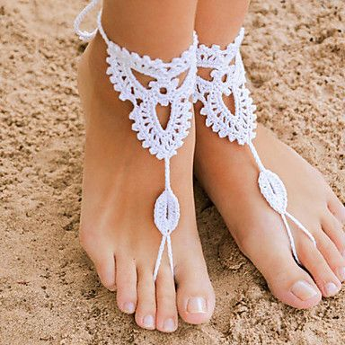 Crochet Barefoot Sandals,Beach Pool Wear,Sexy Accessories, Fashion Accessory,Toe Ring Anklet, Ankle Bracelet(1Pair) 3206218 2016 – $7.99