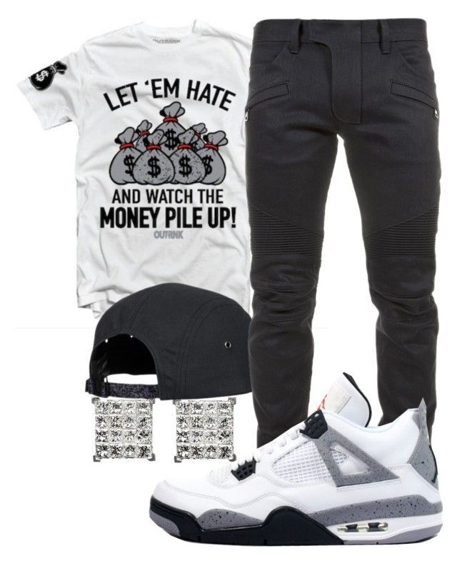 """Young Thug - Halftime"" by young-rich-nvgga ❤ liked on Polyvore featuring Balmain, Retrò, men's fashion and menswear"