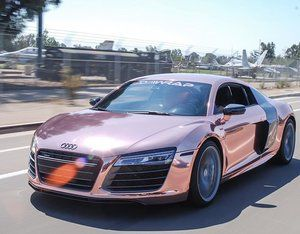 There's nothing like it...the Rose Gold Chrome #clickbaitR8 for @tannerbraungardt