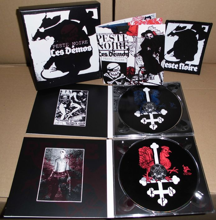 Image of PESTE NOIRE - Les Démos, box collector 2 digipacks + patch [ CD ]