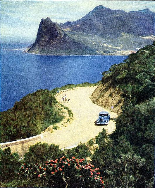 Chapmans peak drive 1949, Cape Town. Wow. Still absolutely breathtaking drive in 2009, 2011 and 2014!