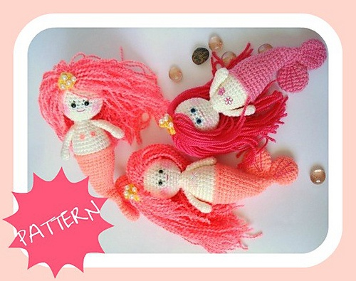Free Crochet Amigurumi Mermaid Pattern : Best crochet mermaids images mermaid