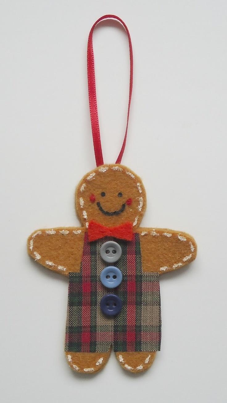 Christmas Craft Flashback #3  Felt Gingerbread Men