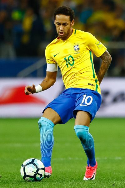 Neymar of Brazil in action during a match between Brazil and Paraguay as part of 2018 FIFA World Cup Russia Qualifier at Arena Corinthians on March 28, 2017 in Sao Paulo, Brazil.