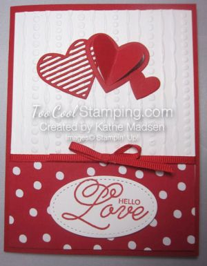 2017  Stamps—Sealed With Love (photopolymer) OR Sealed With Love Bundle (photopolymer) Ink—Real Red Paper—Sending Love DSP; Real Red, Whisper White Accessories—Sending Ribbon Combo Pack Tools—Love Notes Framelits OR Sealed With Love Bundle (photopolymer), Stitched Shapes Framelits, Big Shot, Precision Base Plate, Festive Texture Impressions Folder, Fine-Tip Glue Pen, Multipurpose Glue, Glue Dots, Dimensionals, SNAIL