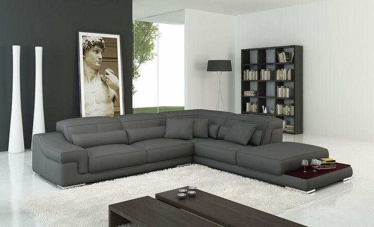 grey leather corner sofa - Google Search