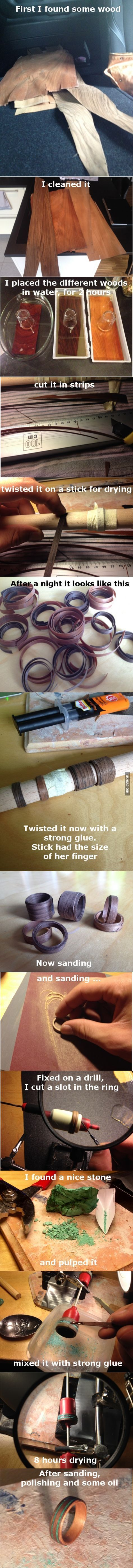 How to make a ring out of strips of wood