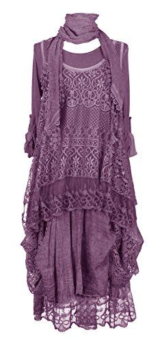 Ladies Womens Italian Lagenlook Quirky Layering LONG 3 Piece Sequin Crochet Lace Long Sleeves Scarf Tunic Top Dress One Size Plus UK 12-20 (One Size Plus, Aubergine) Generic http://www.amazon.co.uk/dp/B011S88I6U/ref=cm_sw_r_pi_dp_D2HXvb12RXCHV