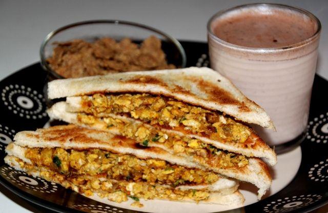 Bhurji / Burji Sandwich