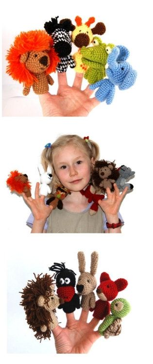 Hey, I found this really awesome Etsy listing at https://www.etsy.com/listing/93270172/choose-5-animal-finger-puppets-custom