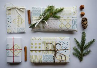 Day 8 : Wrapping paper Himmeli 3 sheets in an envelope | Polkka Jam