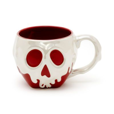 Fresh from the Evil Queen's cauldron, this fun Snow White mug is a must have for Disney villain fans! The stoneware mug is shaped like the iconic poisoned apple from the film, complete with iridescent skull detail.