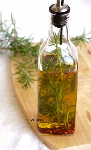 Rosemary Infused Olive Oil | eCurry - The Recipe Blog
