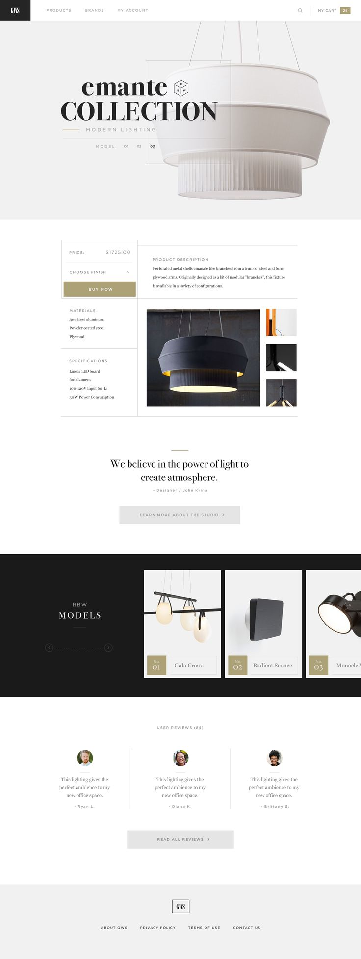 GWS design interior ecommerce website #website #webdesign #design #web #interior #ecommerce