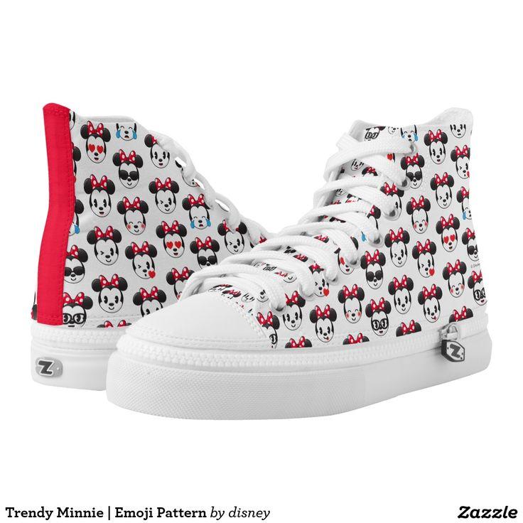 Trendy Minnie | Emoji Pattern. Disney. Producto disponible en tienda Zazzle. Calzado, moda. Product available in Zazzle store. Footwear, fashion. Regalos, Gifts. #zapatillas #shoes