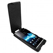 Forro Sony Xperia S Piel Frama iMagnum - Negra  Bs.F. 563,39